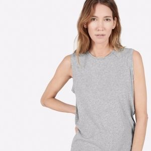everlane | heather gray cotton muscle tank top XL